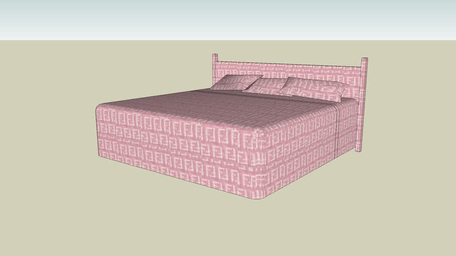Pink Fendi King Size Bed
