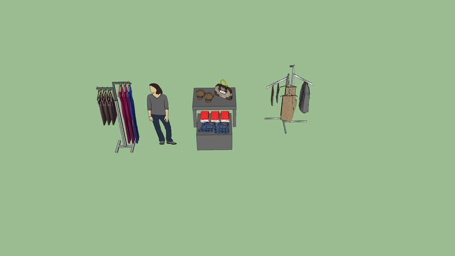 Muebles+con+ropa.skp