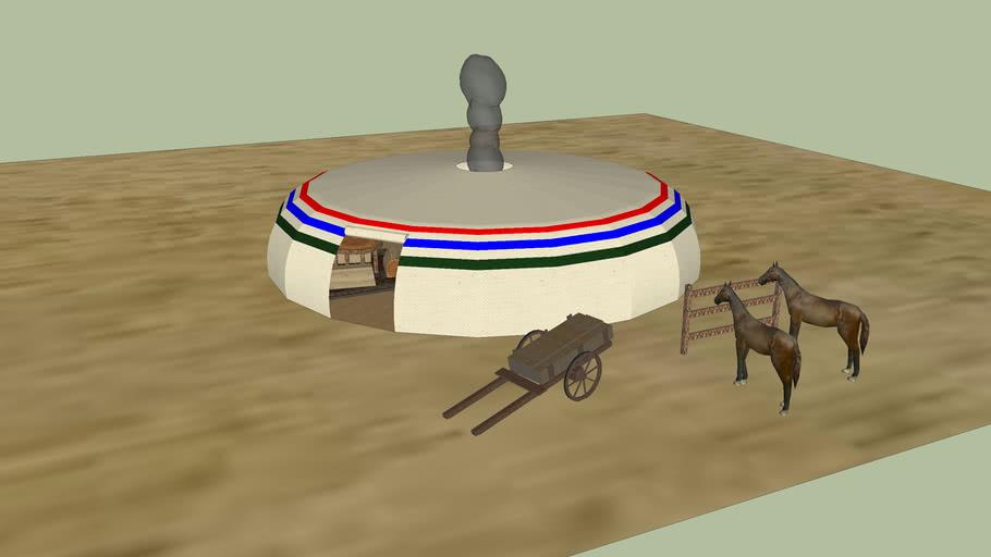 Low Poly Mongolian Yurt/Ger