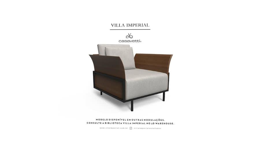 Sofá Benhê - Poltrona | Villa Imperial - Casa Vetti