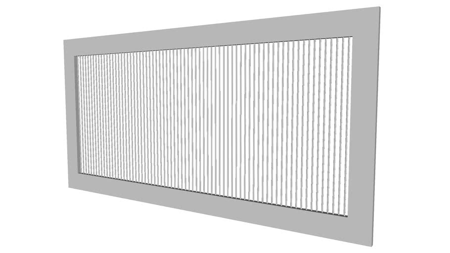 Heating Register Grill 18inx9in - Detailed