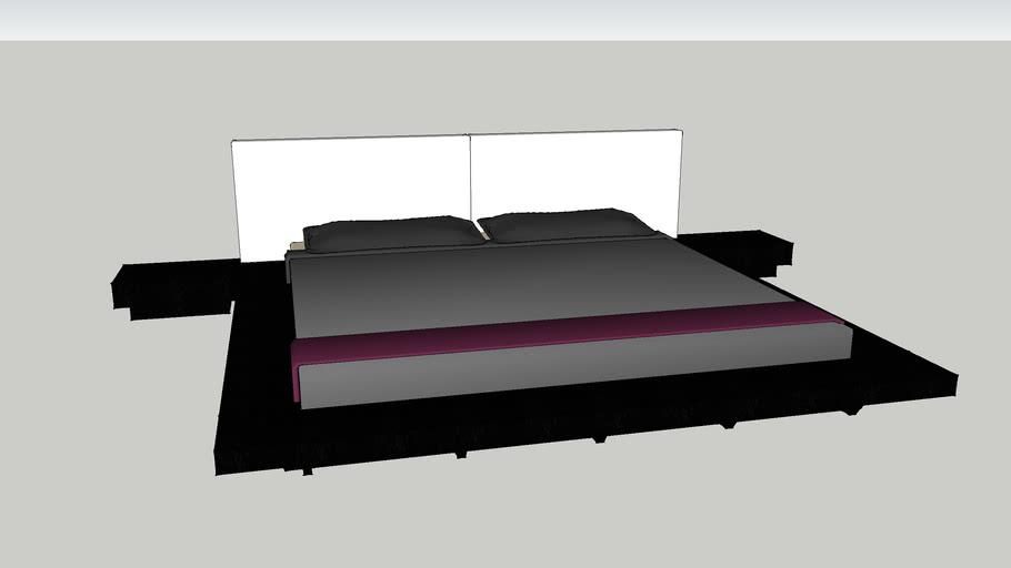 Zen Modern Platform Bed