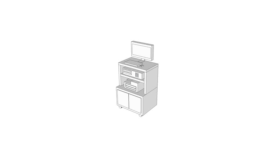 M8606 - Endoscopy Cart, Fiberoptic, w-Video Accessories