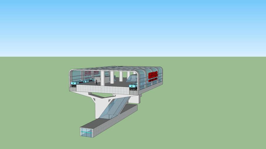 银川城市索道观光系统站台——鼓楼南街站