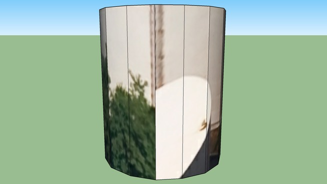 103011. White Cylinder tower in Vaulx-en-Velin, France (Lyon)