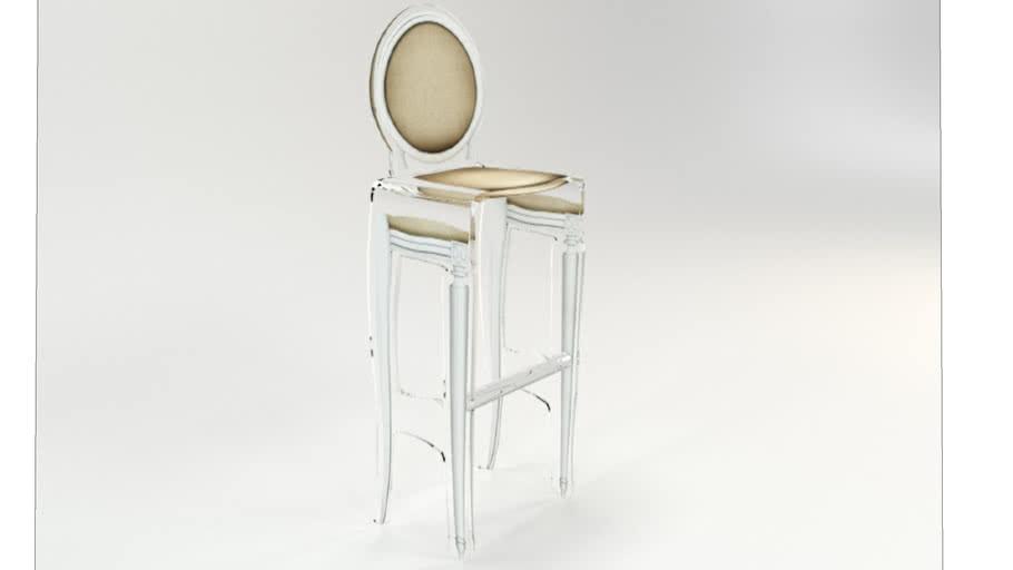 TABOURET SIXTEEN TAUPE CONTOUR BLANC Acrila Furniture