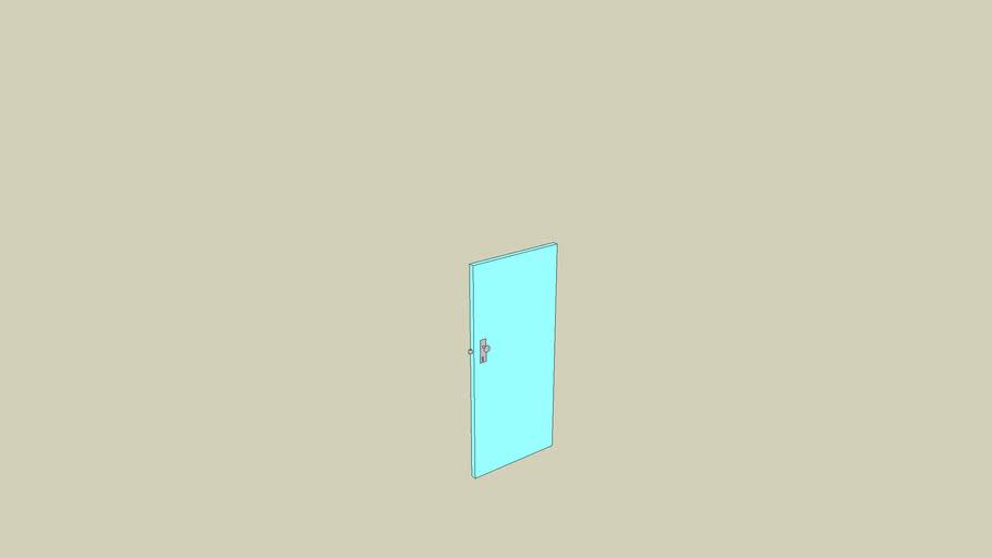 porte bleue clair