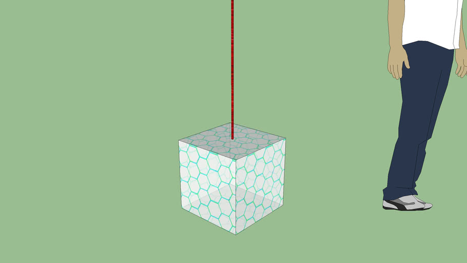 hypercube with laser