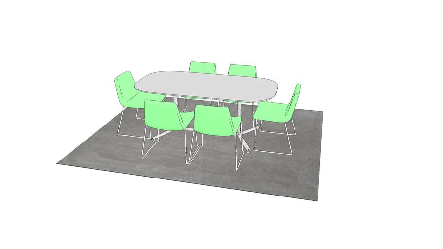 Bevy Pedestal Work Table 01