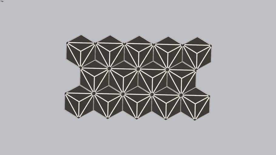 Carreau deciment hexagonale
