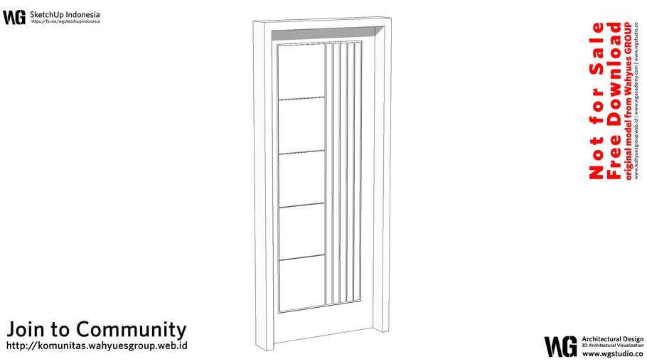 Single Door Size 80cm 200cm #01   WG Studio Free Model