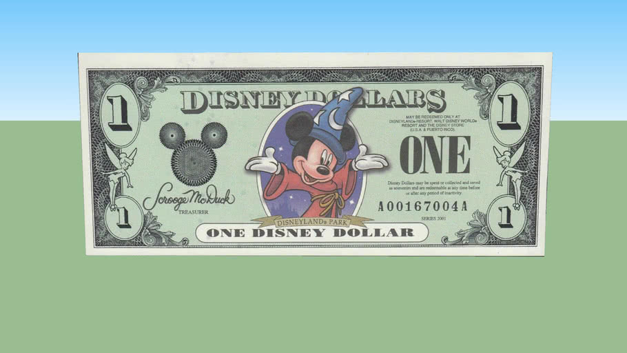 One disney dollars - 1 $