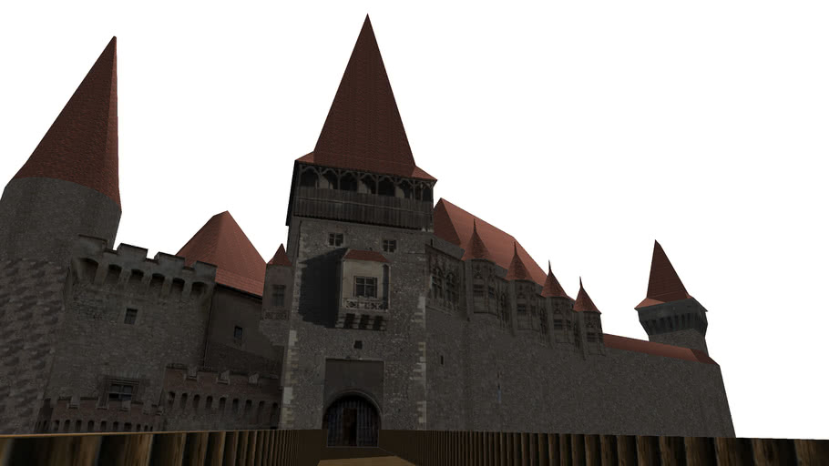 The Corvins Castle on Google Earth