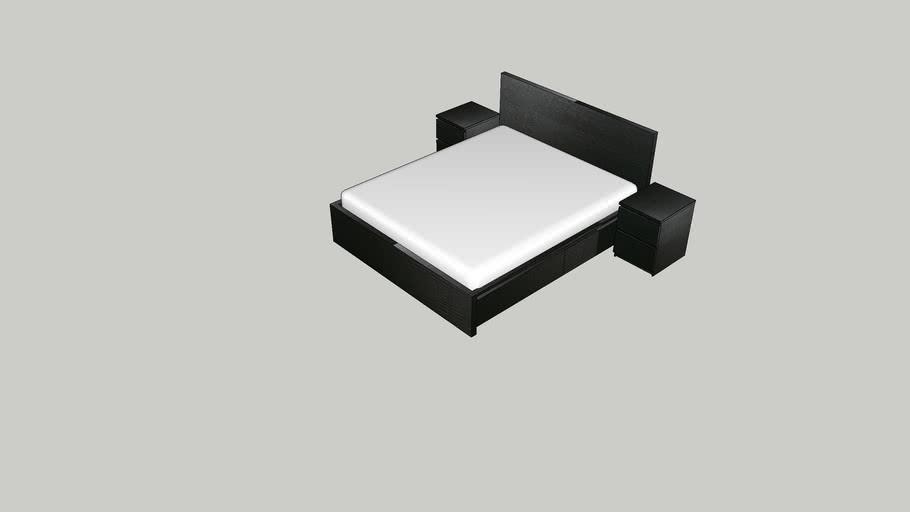 IKEA MALM bed 1600 x 1900