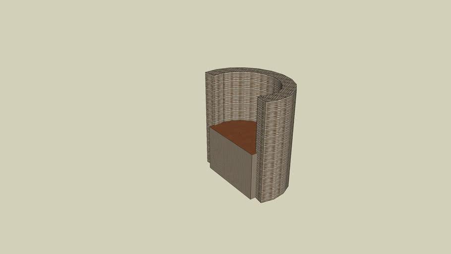 Resta-Perfect Armless Wicker Barstool