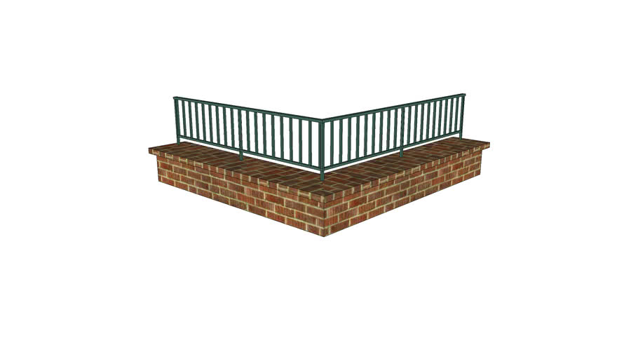 Brick Bench and Rail Assembly