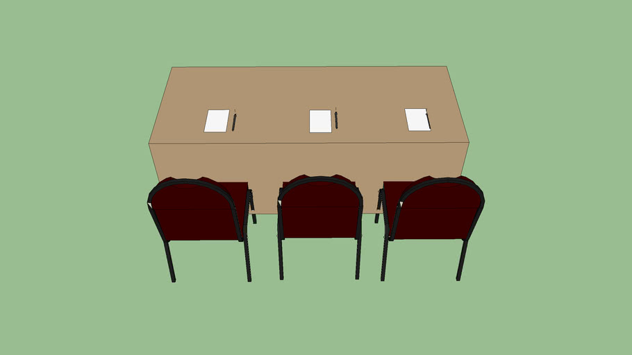 Shool table setup