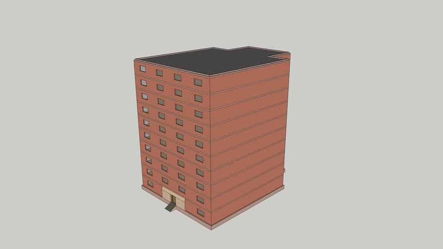 Simple building, 10 floors, VR ready