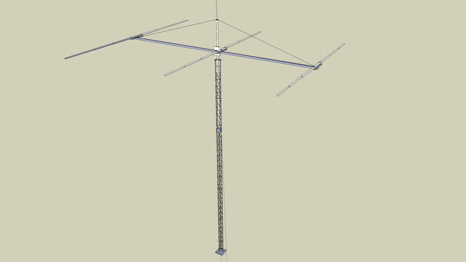 3 element 40 meter yagi antenna on rohn tower sections