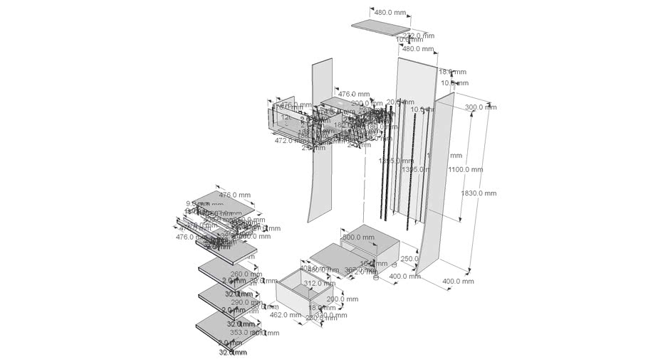 MEKO展示架-尺寸圖