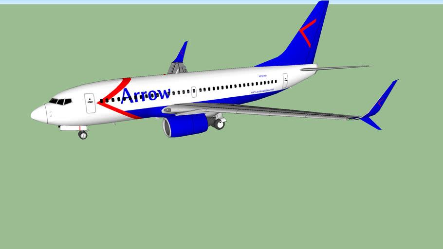 "Arrow Airlines (2015 [F]) - Boeing 737-7AR ""Split Scimitar"""