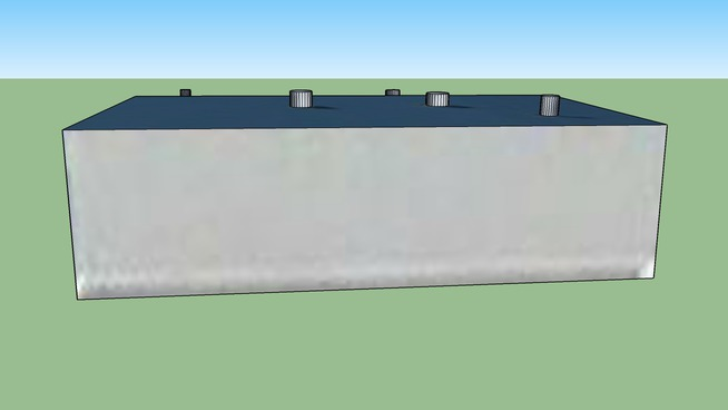 Smaller Blue Roofed Maintenance Hangar at McNary Field, Salem OR, USA