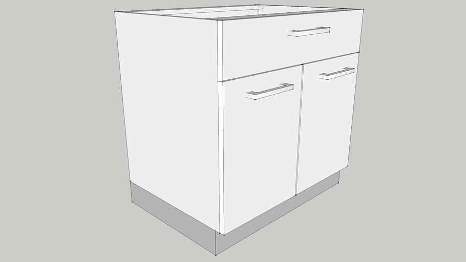 800 Base Module with One Drawer, Two Shutters & One Adjustable Shelf 800X560X700 CID_CP10000044