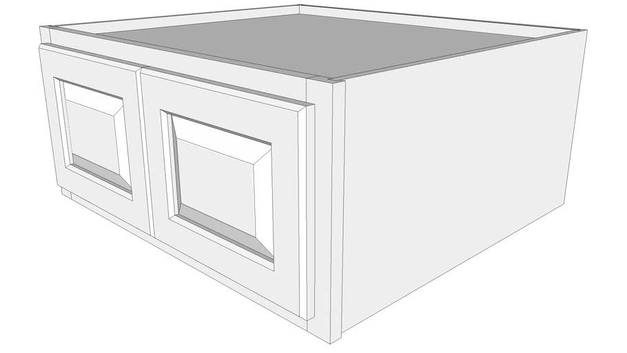 "Briarwood Wall Cabinet 24W2712B - 24"" Deep, Butt Doors"