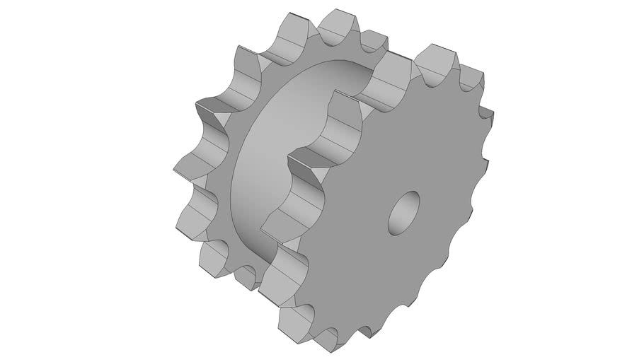 "Doppel-Kettenräder ZRE, Teilung 1"" x 17,02 mm"