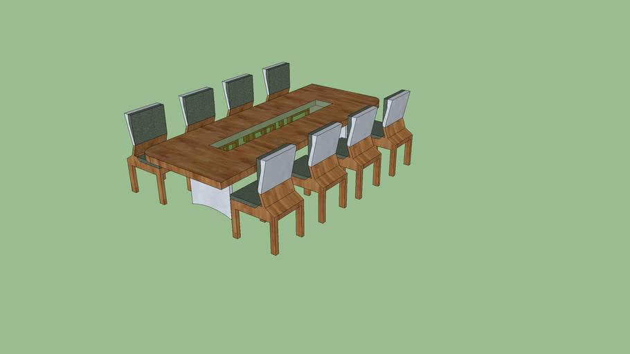 Table A Manger 8 Personnes 3d Warehouse