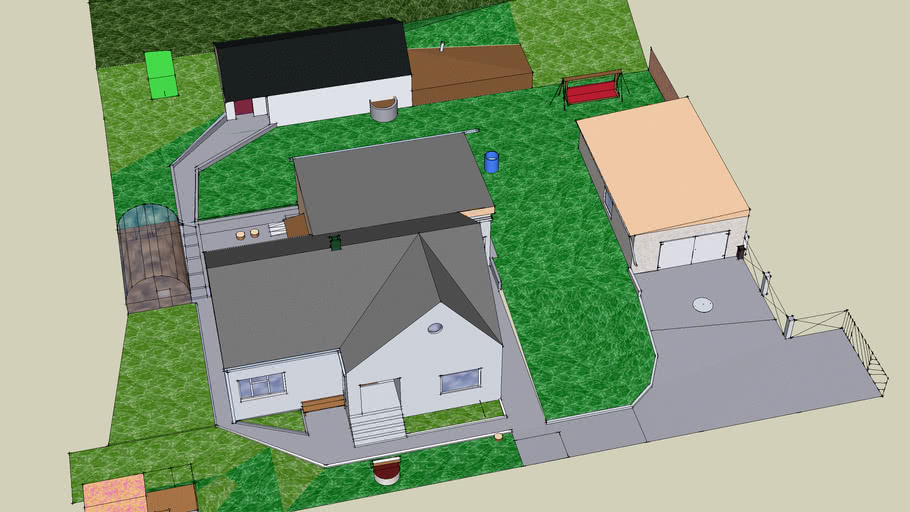 Hause with yard and garden (new)