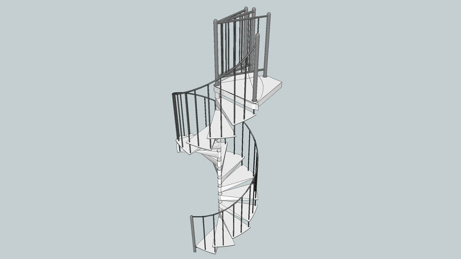 H 1300 - H Series - Spiral Staircase - Enzie Stairs
