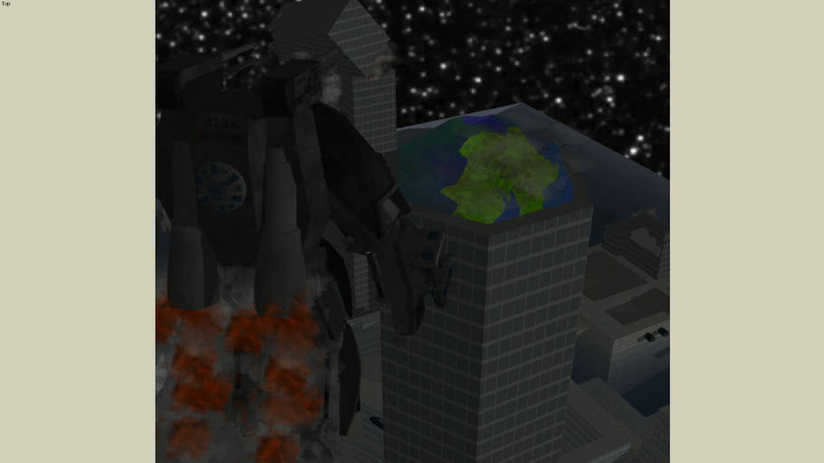 B.T.M.A. has taken out the Comunications tower! (this is a picture, and only one)