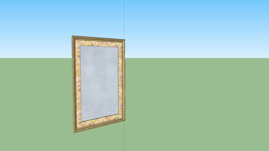 deco mirror with ogee stone with deco tile