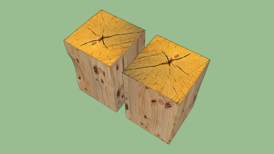 bedside tables (out of wood beam)