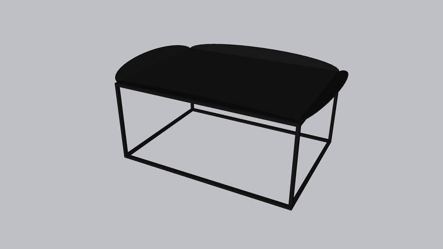 Floret L_Coffee table_Onyx Black - Textured