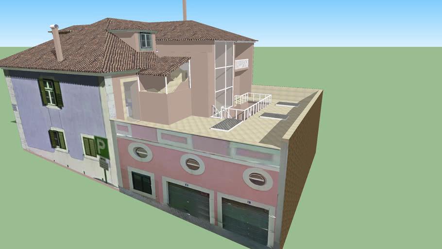 Modelo 3D de um Prédio na Travessa das Sedas, Lisboa, Portugal