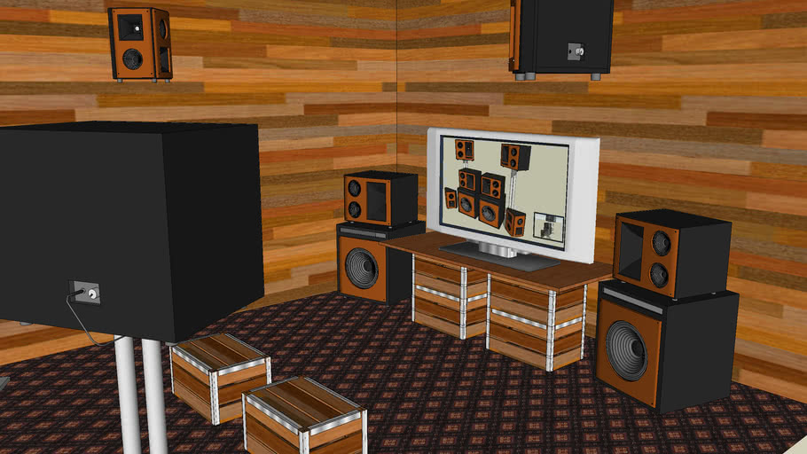 Home Theater/Audio System - SketchUp 3d Challenge #2