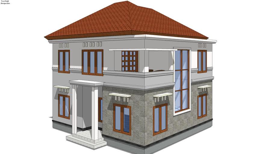 Rumah Minimalis 2 Lantai 11 x 9 | 3D Warehouse