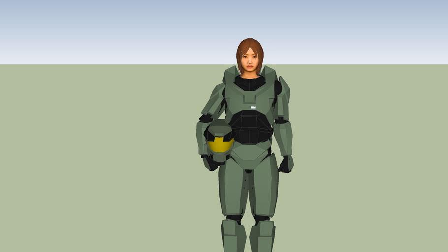 female spartan hloding helmet