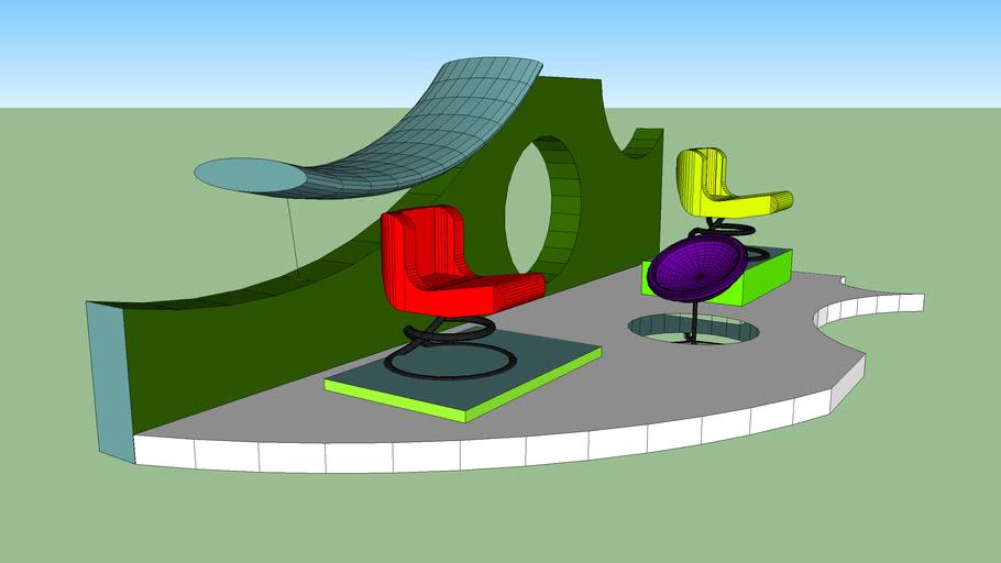 exposición de sillas