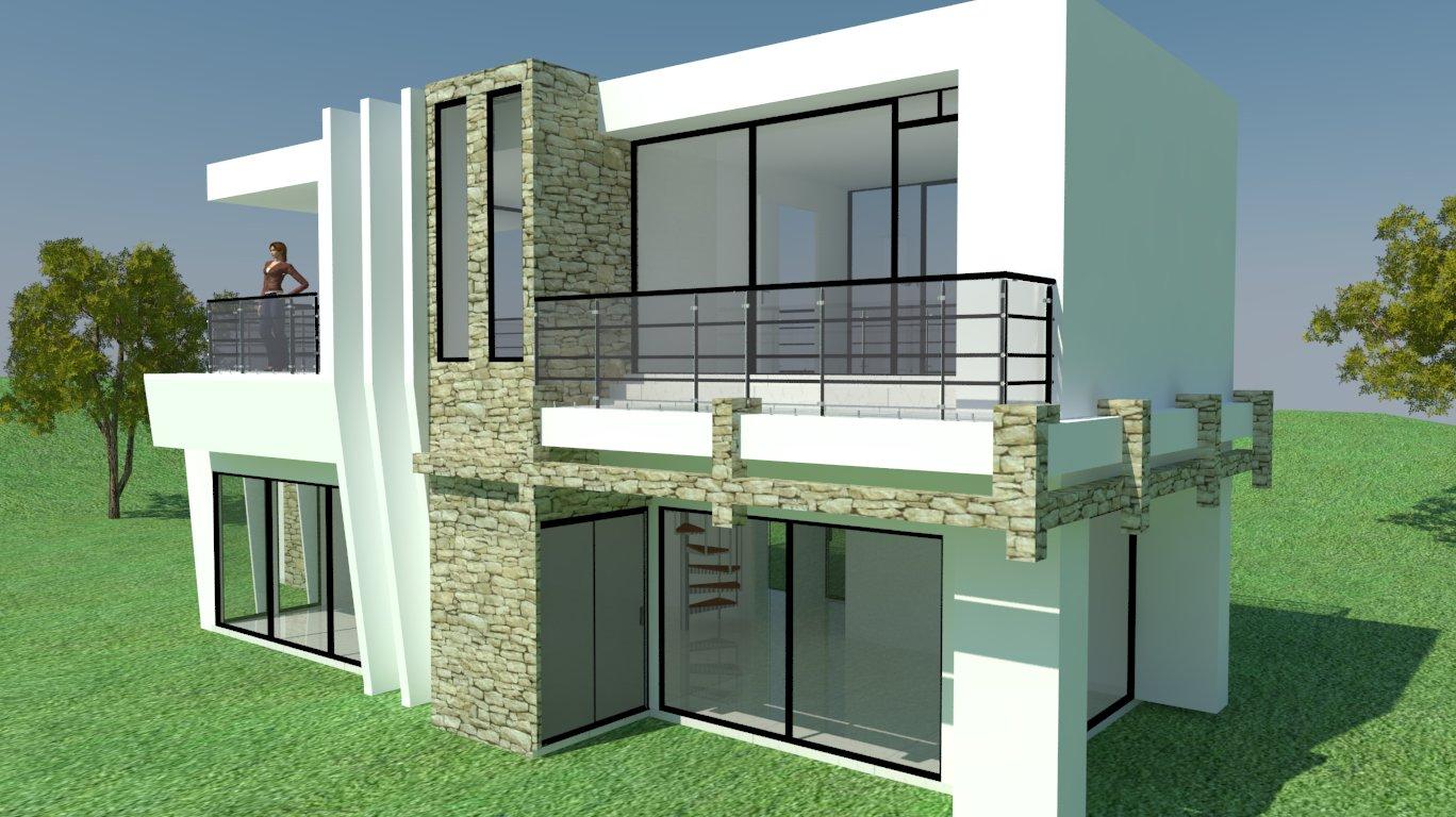 Render casa moderna 3d warehouse for Casa moderna sketchup download
