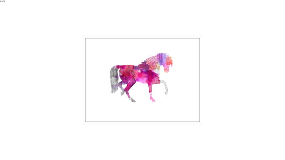 Quadro Cavalo Abstrato