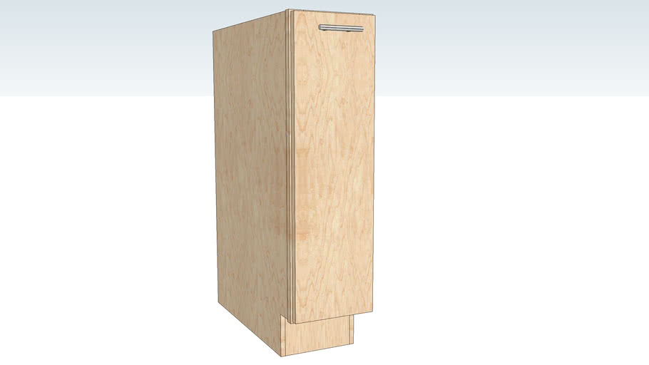 Base Single Door with Tray Divider