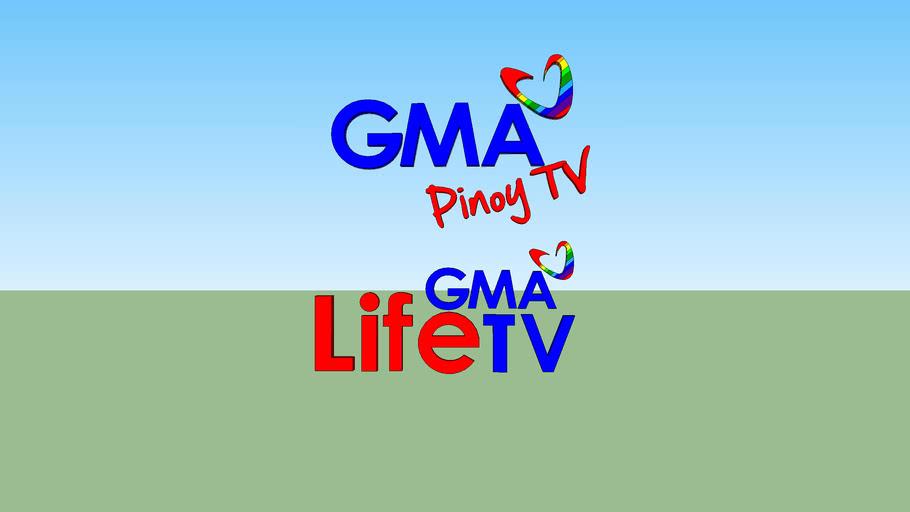 GMA Pinoy TV and Life TV logo | 3D Warehouse