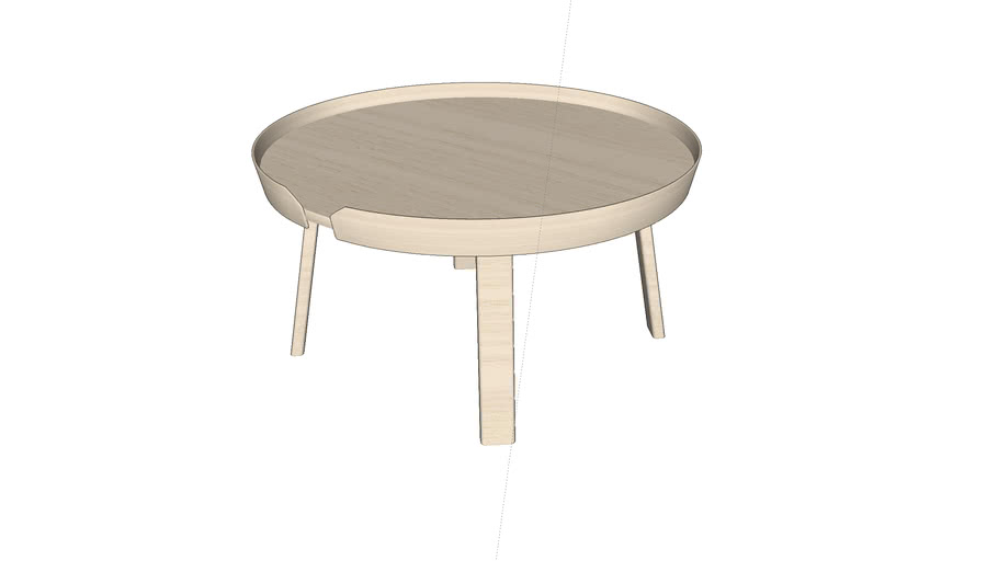 Around coffee table by Muuto - large - designed by Thomas Bentzen