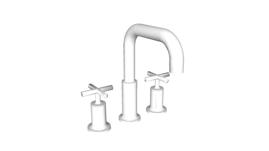 K-T14428-3 Purist(R) Deck-mount bath faucet trim for high-flow valve with cross handles, valve not included