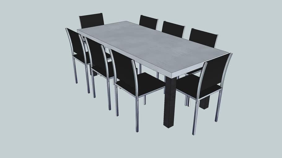 table béton place deco