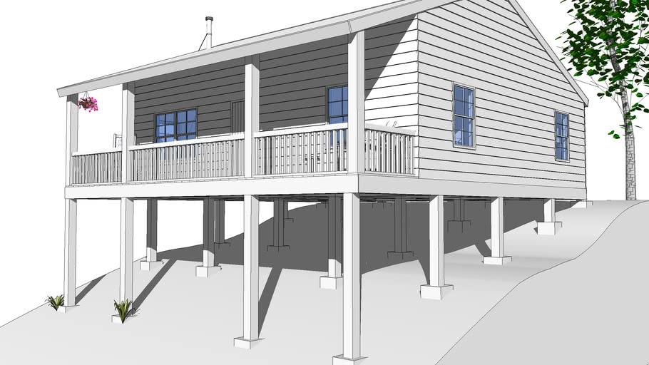 Maison sur pilotis / House on stilts   3D Warehouse