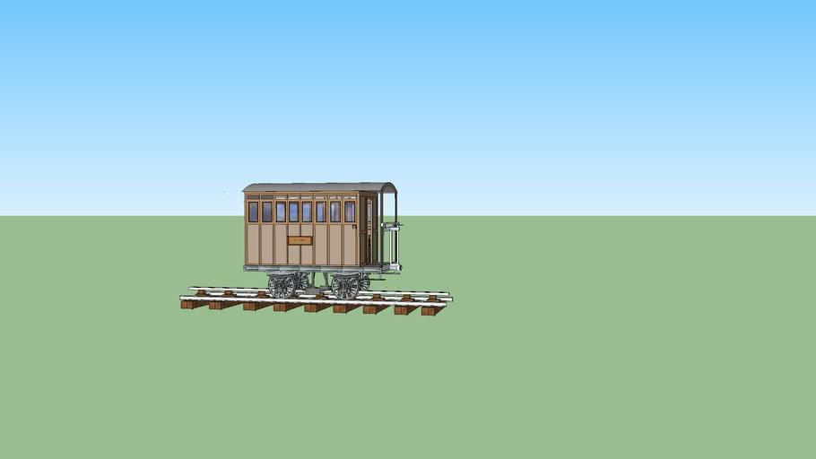 Wagon 3° Classe du chemin de Fer Fell